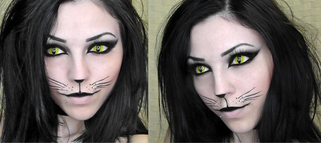 Halloween Cat Eye Makeup Halloween Makeup Kitty Cat Halloween Makeup Cat Halloween Makeup