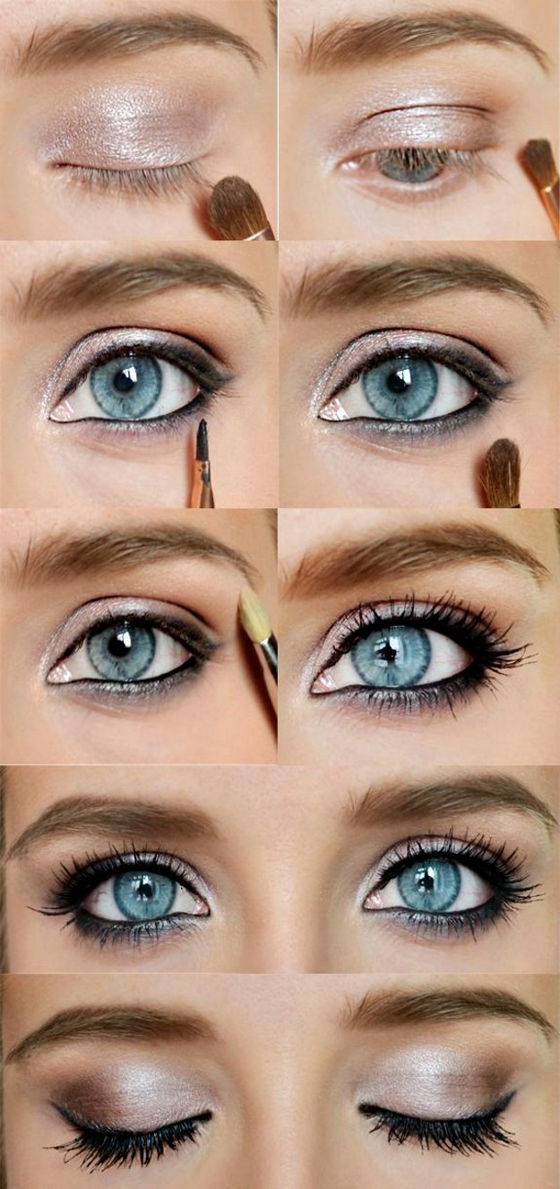 Homecoming Makeup For Blue Eyes 12 Easy Step Step Makeup Tutorials For Blue Eyes Her Style Code