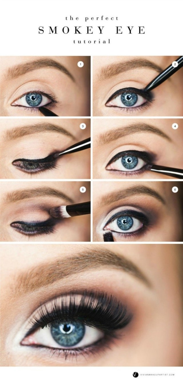 How To Do Perfect Eye Makeup 15 Smokey Eye Tutorials Step Step Guide To Perfect Hollywood Makeup