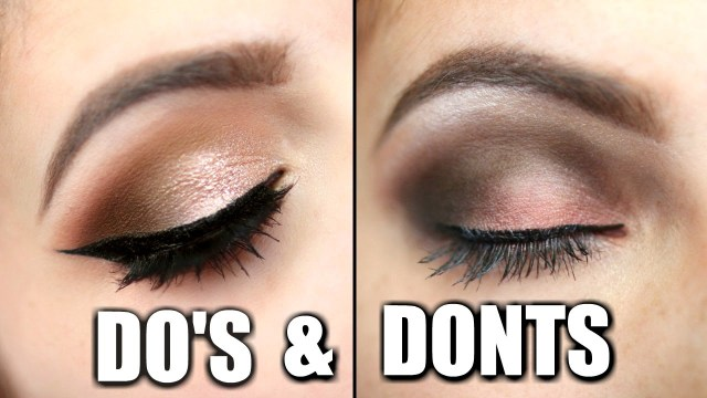 How To Do Perfect Eye Makeup Eyeshadow Dos And Donts Youtube