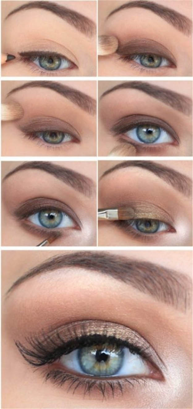 Makeup For Green Eyes 10 Step Step Makeup Tutorials For Green Eyes Her Style Code