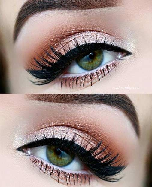Makeup For Greenish Blue Eyes 31 Pretty Eye Makeup Looks For Green Eyes 2511717 Weddbook
