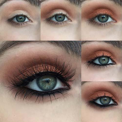 Makeup For Greenish Blue Eyes Eye Makeup For Green Eyes