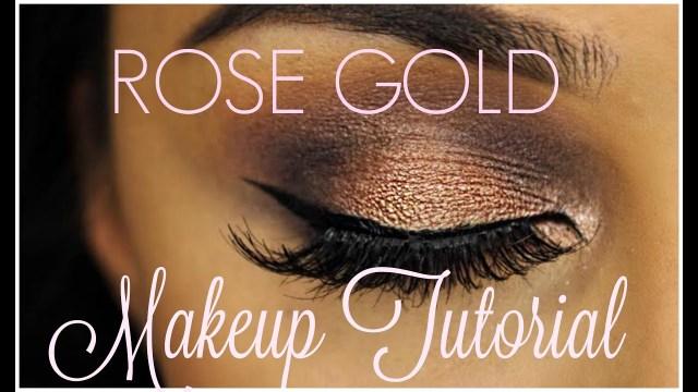 Makeup Tutorials For Green Eyes Rose Gold Eye Makeup Tutorial Makeup For Green Eyes Youtube