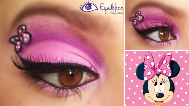 Minnie Mouse Eye Makeup Minnie Mouse Eyeshadow Eyedolize Makeup Youtube