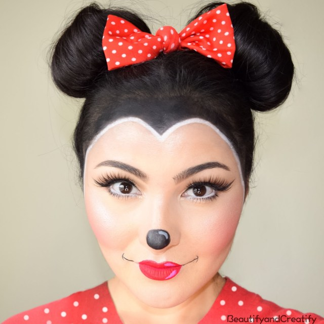 Minnie Mouse Eye Makeup Minnie Mouse Makeup And Hair Tutorial Easy Halloween Costume