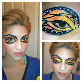 Monarch Butterfly Eye Makeup Monarch Butterfly Eyeshadow 2 Klrainbow On Deviantart