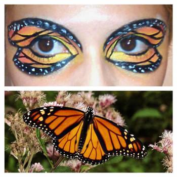 Monarch Butterfly Eye Makeup Monarch Butterfly Eyeshadow Klrainbow On Deviantart