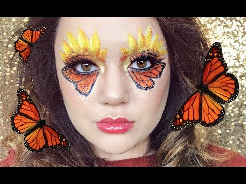 Monarch Butterfly Eye Makeup Monarch Butterfly Makeup Look May Favs 2018 Youtube