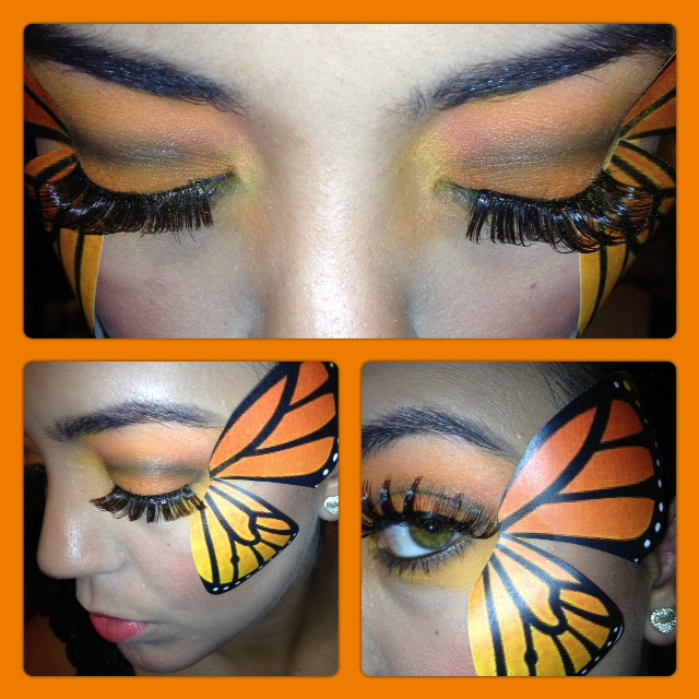 Monarch Butterfly Eye Makeup Sisters Beauty Buzz Halloween Butterfly Tutorial
