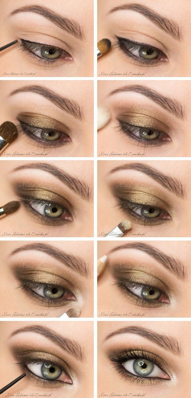 Natural Eye Makeup For Brown Eyes 10 Gold Smoky Eye Tutorials For Fall Pretty Designs