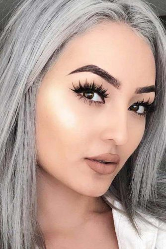 Natural Makeup Asian Eyes Asian Eyes Makeup Nude Beige Matte Lipstick Classic Black Eyeline
