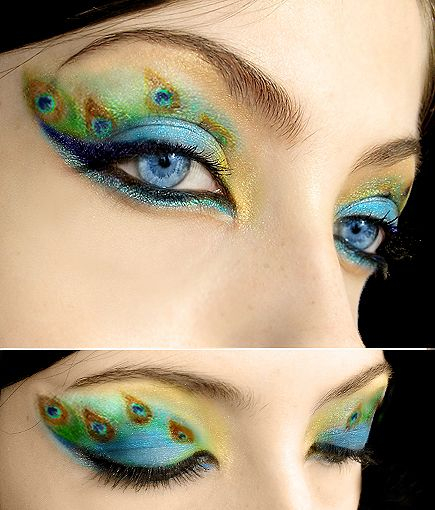 Peacock Inspired Eye Makeup 15 Amazing Peacock Inspired Eye Makeup Looks For 2014 Pretty Designs