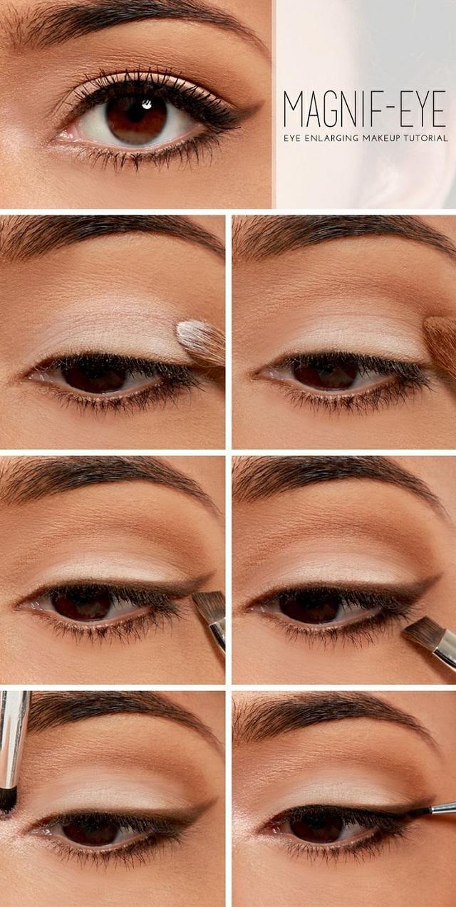 Pretty Light Eye Makeup Makeup Tutorial To Enlarge Your Eyes Alldaychic