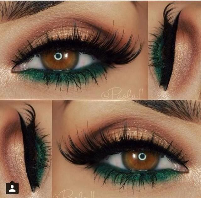 Prom Makeup Green Eyes Prom Makeup Gorgeous Eyes And A Nice Combination Of Green And Gold