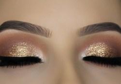 Shiny Eye Makeup Classic Brown Glitter Eye Makeup Tutorial Youtube
