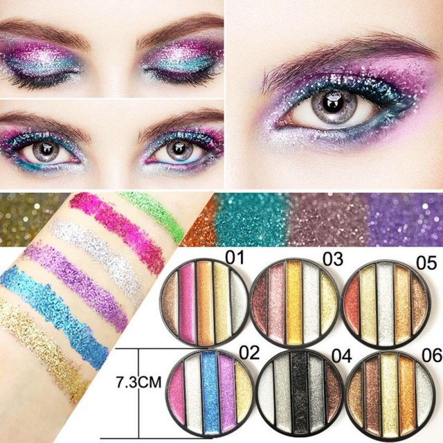 Shiny Eye Makeup Glitter Multi Color Powder Palette Matte Cosmetic Makeup Shiny Eye
