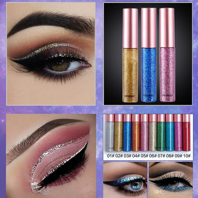 Shiny Eye Makeup Glitter Shimmer Liquid Eyeliner Romantic Starry Sky Shiny Eyeliner