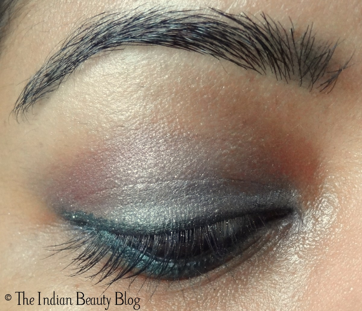 Simple Pink Eye Makeup 30 Days Eye Makeup Challenge Look 10 Glittery Silver Pink The