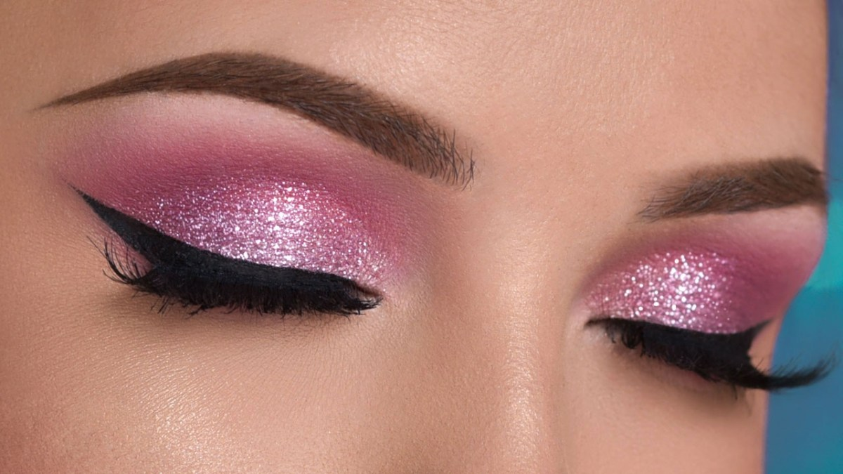 Simple Pink Eye Makeup Pink Glitter Smokey Eye Makeup Tutorial Youtube