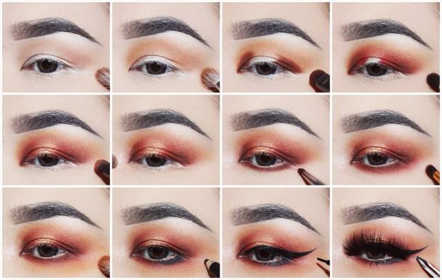 Smokey Eye Makeup Pictures Gold Orange Smokey Eye Makeup Pictorial Lien Jae