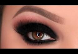 Smokey Eyes Makeup Black Black Smokey Eye Makeup Tutorial Youtube