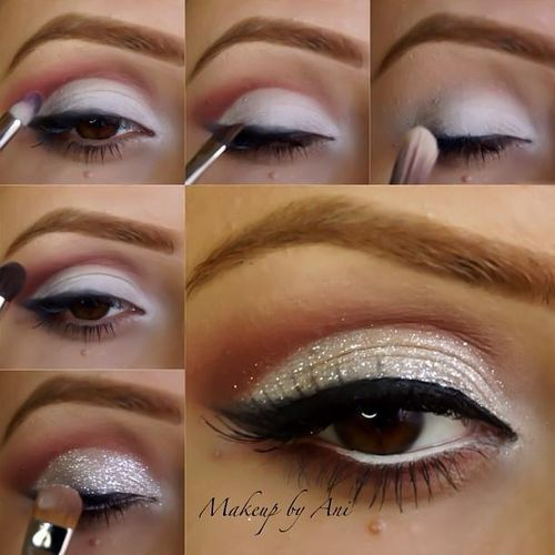 White And Pink Eye Makeup A Collection Of 40 Best Glitter Makeup Tutorials And Ideas For 2019
