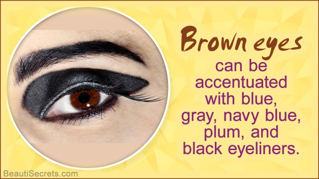 Yellow And Black Eye Makeup Eyeliner For Brown Eyes