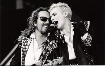 Eurythmics performing at Wembley for Nelson Mandela's 70th Birthday Tribute