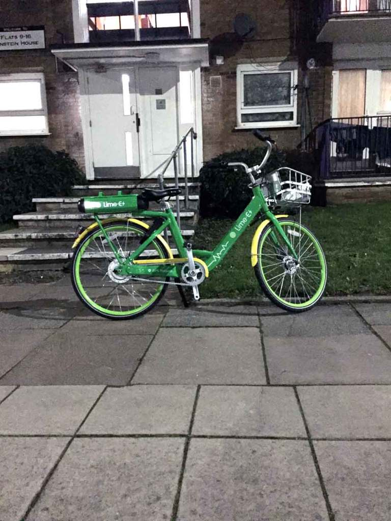 A Limebike on Chalkhill Road