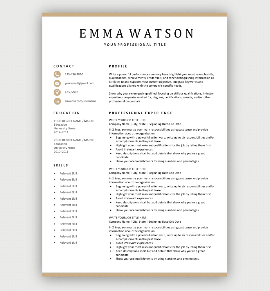 We may earn a commission through links on our site. Modern Resume Template Download For Free