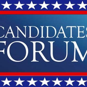 Candidates Forum – Oct. 25 @ 6-8PM