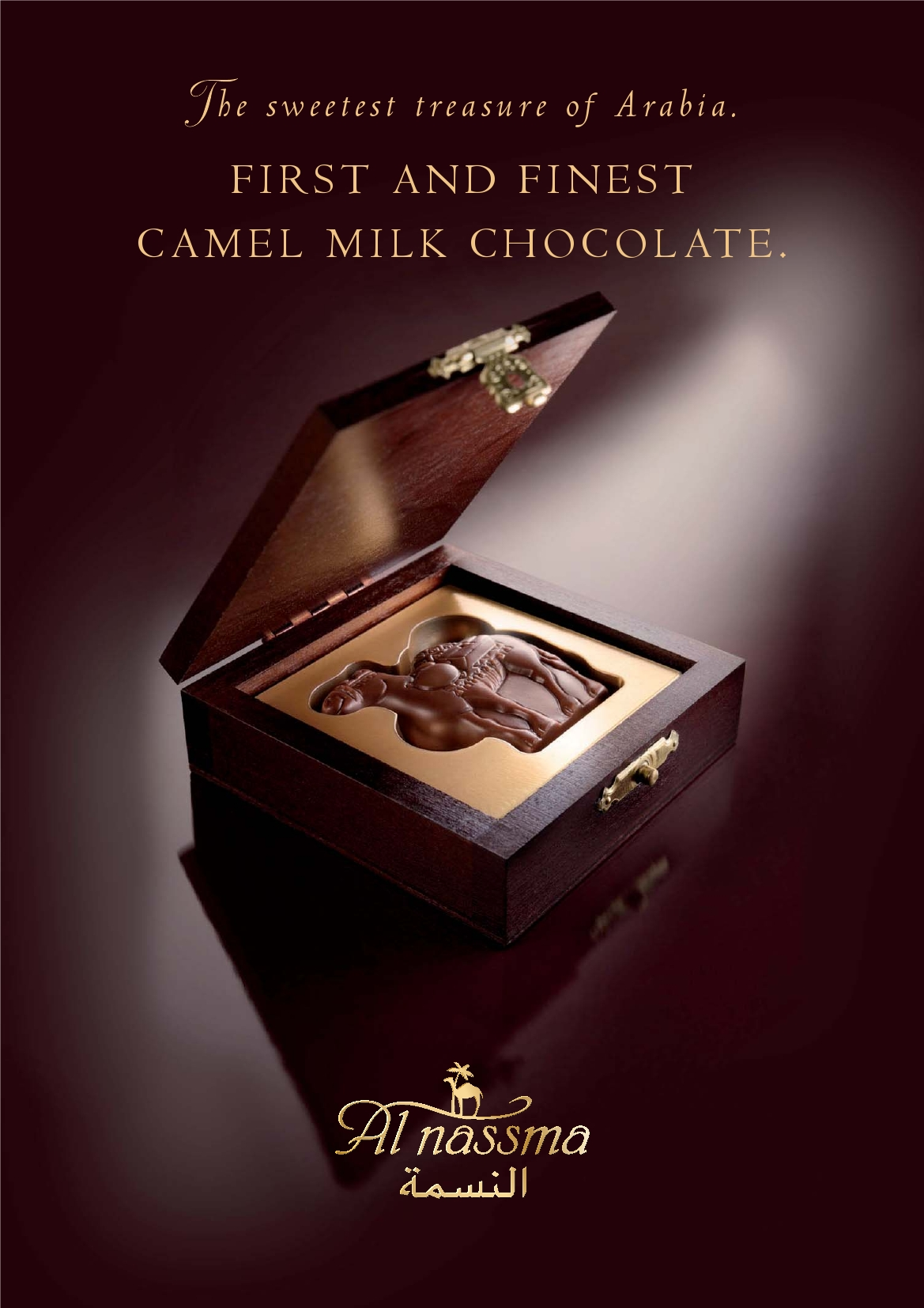 Al Nassma Camel Milk Chocolate Ad