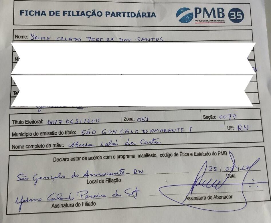 Jaime Calado se filia ao PMB