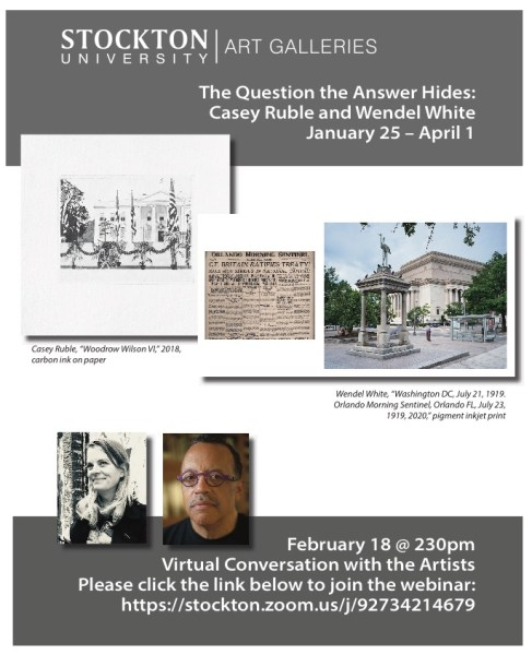 The Question the Answer Hides exhibition poster