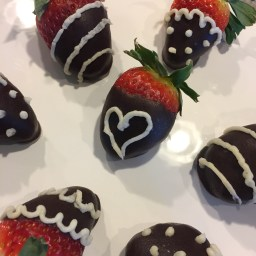 Carob-dipped Strawberries