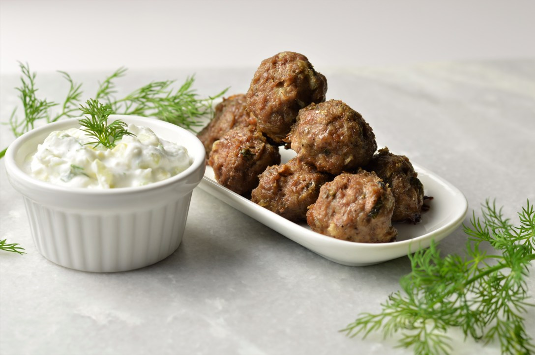 Lamb Mint Meatballs w/Tzatziki Sauce