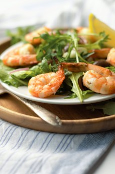 Closeup of Mediterranean Salad w/Shrimp