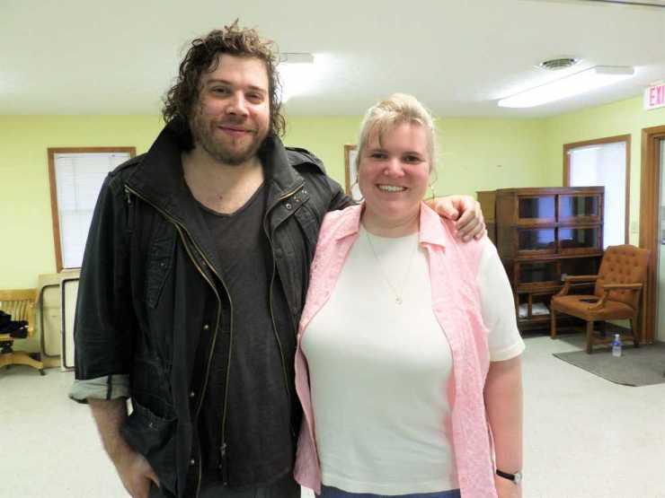 Josh Krajcik with blogger Wendi Warren