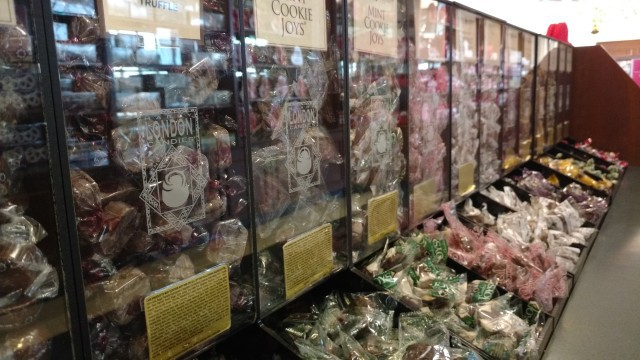Candy lovers will find a wide variety at Harry London-Fannie May Fine Chocolates.