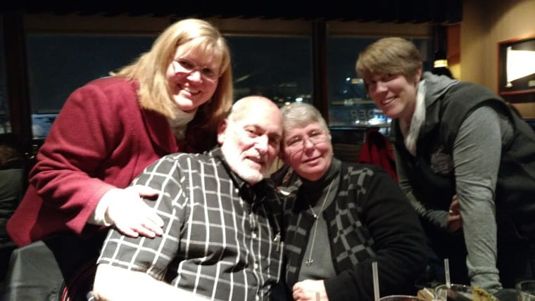 Dad, Mom, Randi and Me at Red Lobster