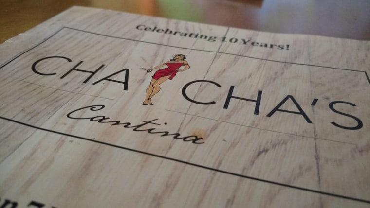 cha cha's menu