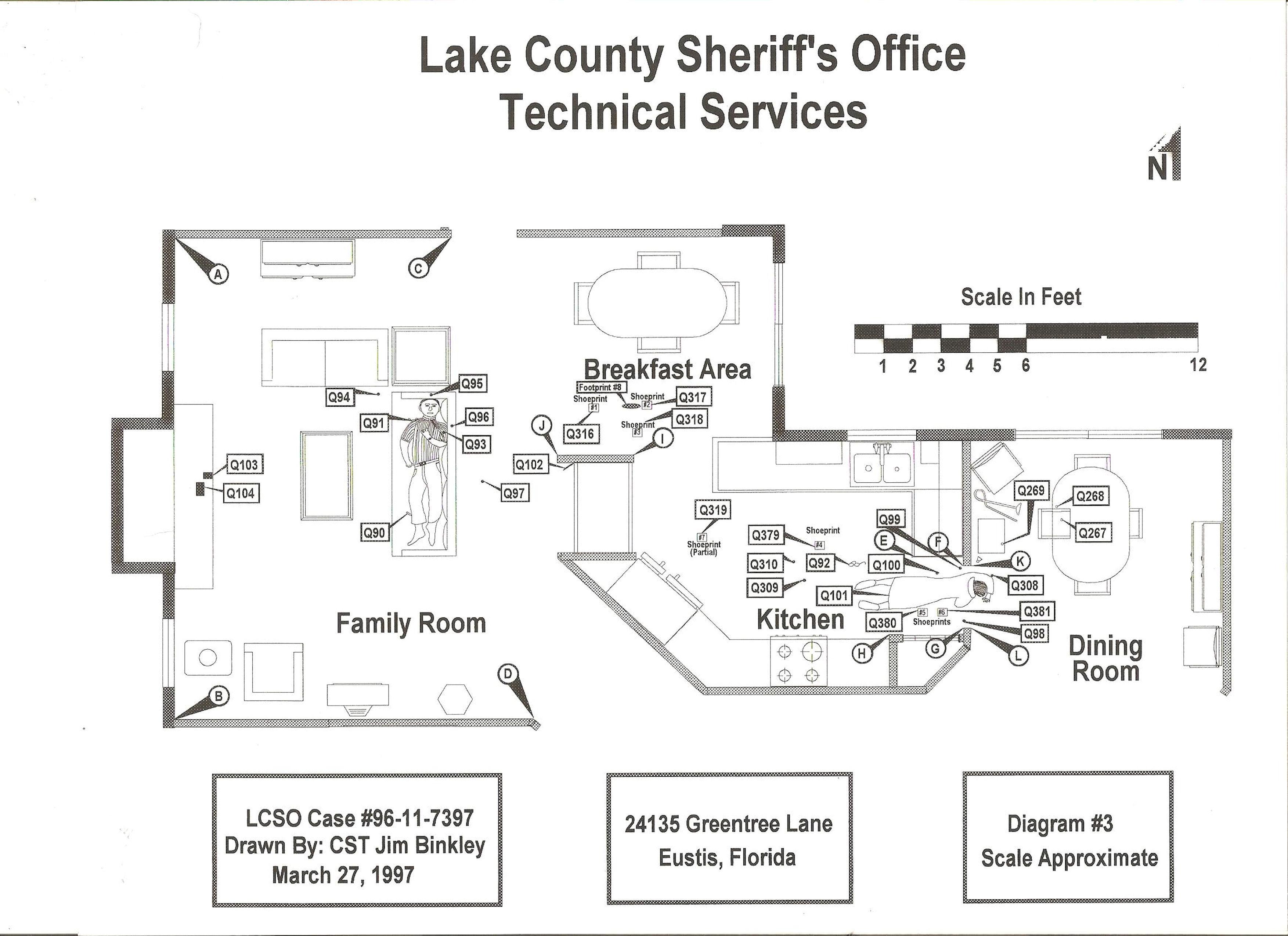 Crime Scene Diagram 1