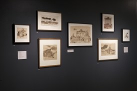 3. Wendy Artin: Rocks, Paper, Memory exhibit, Roman Landscapes