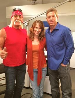 Hulk Hogan, Wendy Braun + Troy Aikman