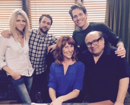 Wendy Braun + the cast of It's  Always Sunny In Philadelphia