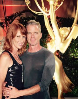 Wendy Braun + Josh Coxx at Television Academy Emmy Party