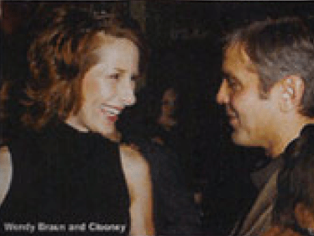 Wendy Braun + GeorgeClooney at Breakthrough Awards