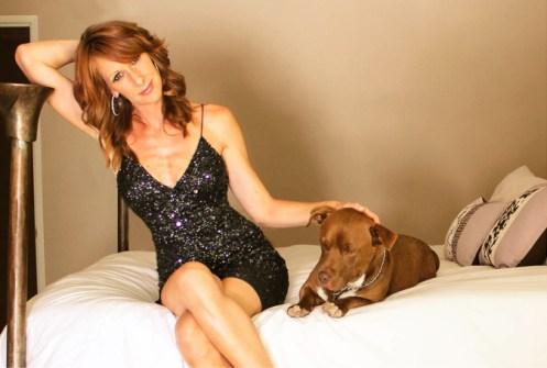 Wendy Braun & her Pit-Bull Corgi Dog, Jack