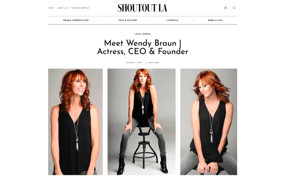 Wendy Braun featured in Shoutout LA